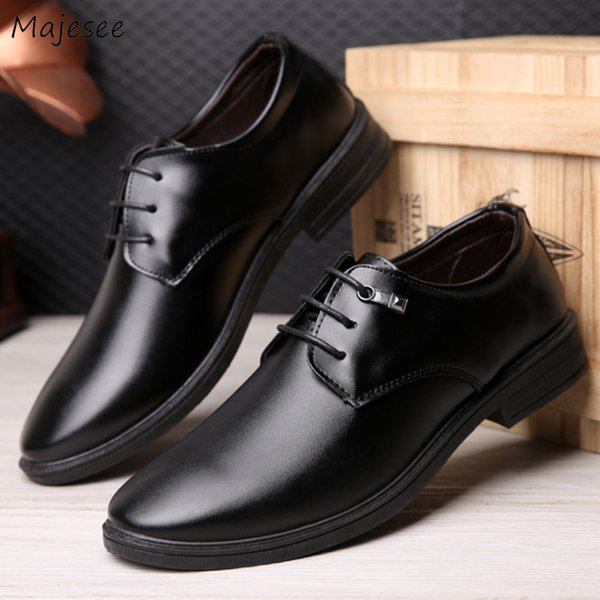 Men's Dress Shoes Wedding Korean Style Office Black Men High Quality Non-slip Classic Trendy Soft Deodorant Gentleman Platform
