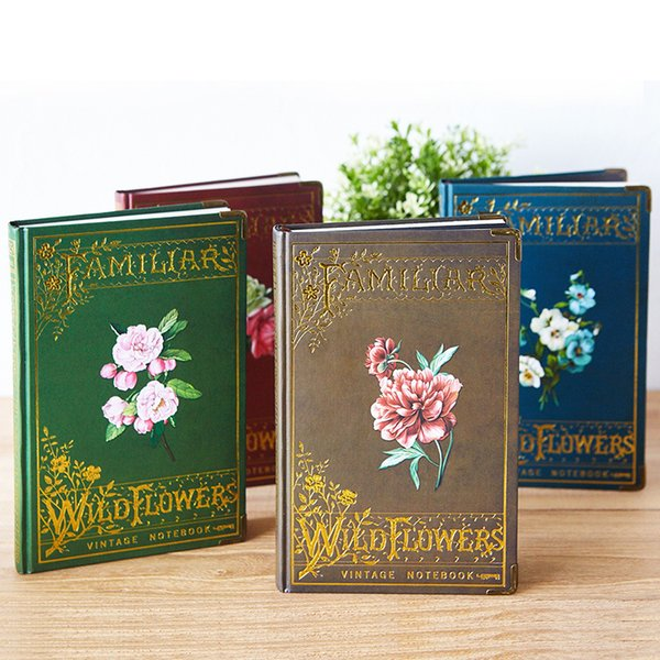 """""""vintage Flower"""" Hard Cover Diary Freenote Beautiful Retro Notebook Journal Office Supply Stationery Gift"""