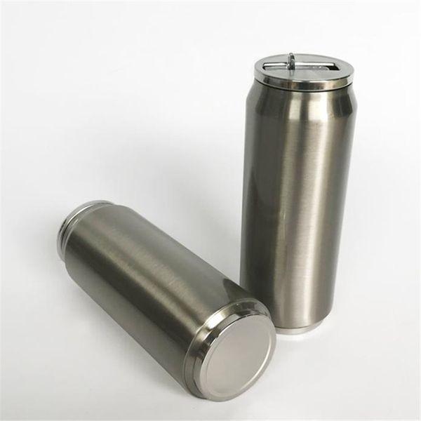 Cola Can бутылки воды из нержавеющей стали с вакуумной изоляцией массажер стаканчики с крышками и соломинки 500мл Кружки Путешествия Спорт Термос A06