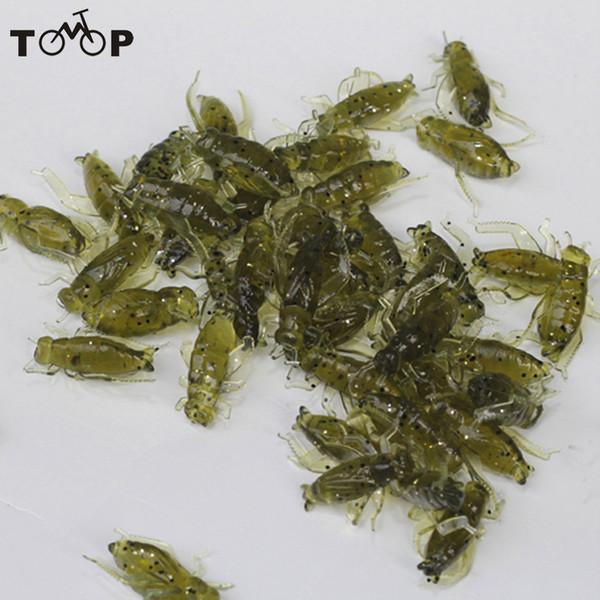 20pcs 0.8g 2cm Pêche Soft Pesca légère Cricket Lure Simulation Appâts leurre insectes