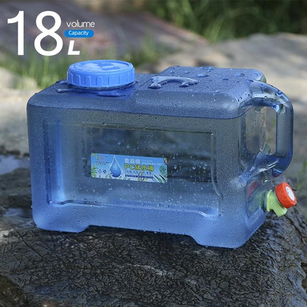 best selling 18L BPA-Free Reusable Water Bucket Drinking Water Bag Outdoor Camping Picnic Car Storage Container