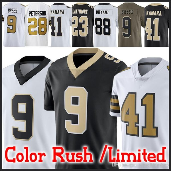 9cd12ddd Brees jersey New Orleans Saints 41 Alvin Kamara 9 Drew Brees 13 Michael  Thomas 28 Adrian