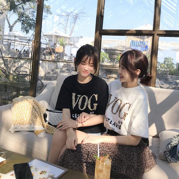 Mishow 2019 Harajuku Verão Streetwear T Shirt Mulheres Vog Impresso O Pescoço Camisa Top Mulher Ocasional Tee Tops Mx19a3393 Q1904020