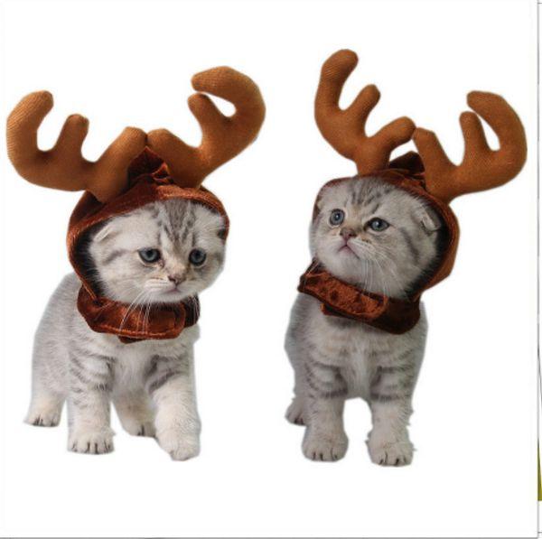 Nette Weihnachtskatze Kostüm Kopfschmuck Für Hund Katze Haustier Weihnachten Stirnband Hut Welpen Kostüm Weihnachten Zubehör