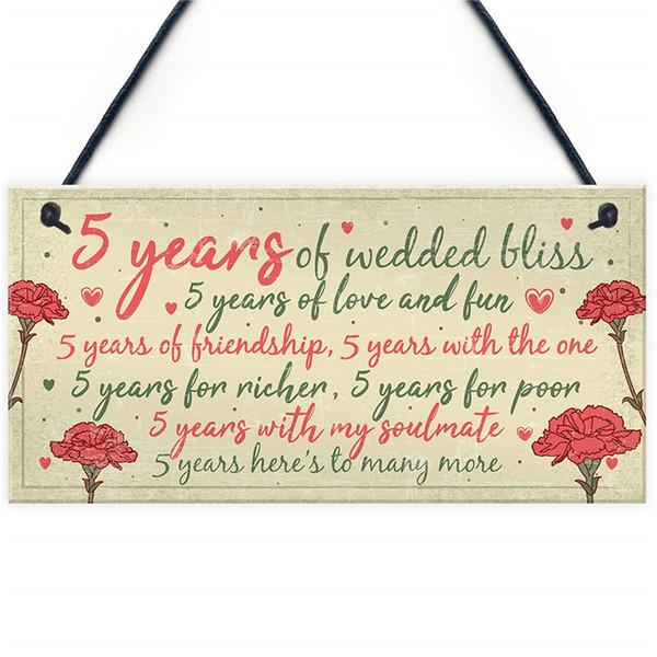 Geschenk 5 Hochzeitstag Frau