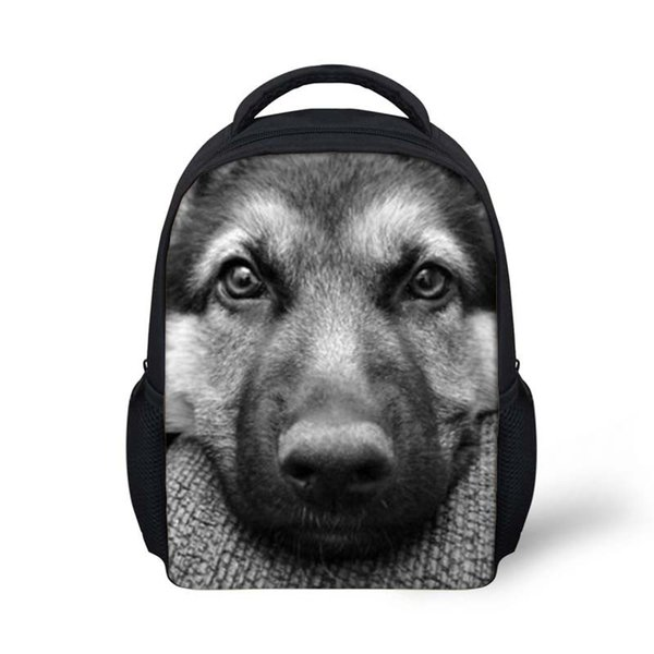 Cool Wolf Pattern Mini School Bags For Boys Girls Schoolbag Kindergarten Baby Backpacks Kids Small Shoulder Book Bag Mochilas