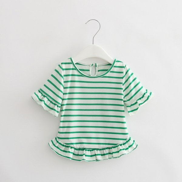 Summer Baby T Shirts For Girls Cotton Short Sleeve Brand Tees Child Striped Short Dress Girl T-shirt Kids Minion Cute Tops Tee