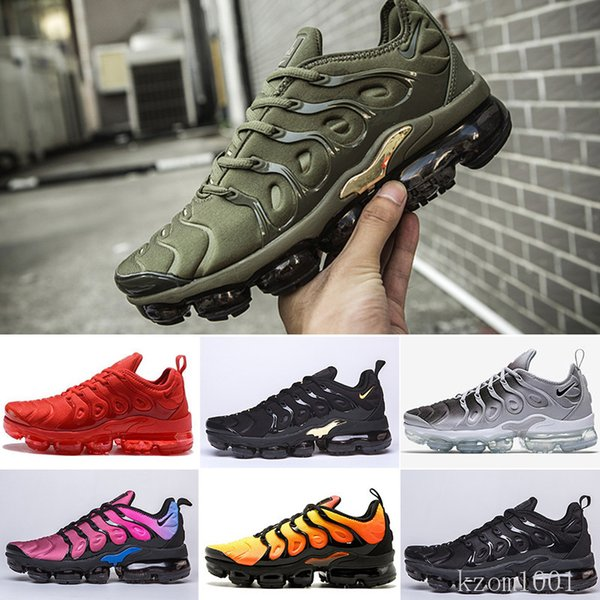 top popular TN Plus Running Shoes For Men Women Royal Smokey Mauve String Colorways Olive In Metallic Triple White Black Trainer YY6TC 2020