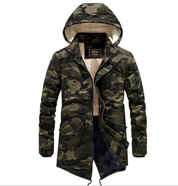 Compre Chaquetas De Alta Calidad Para Hombre Tallas Grandes Larga De Lana Gruesa Militar Casual Chaqueta De Invierno Hombres 2019 Moda Parka Hombres
