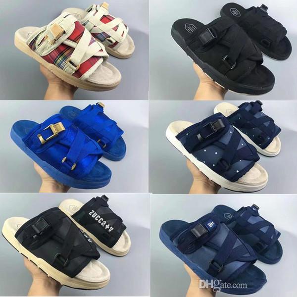 2018 venta caliente del verano Visvim hombre y mujer zapatillas zapatos de moda zapatillas casuales sandalias de playa zapatillas al aire libre hip-hop sandalias