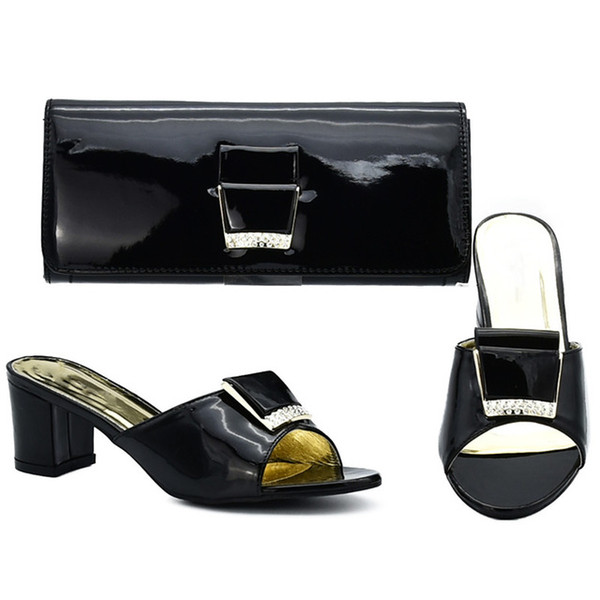 2019 brand fashion designer luxury handbags purses Italian Heeled shoes bag set for women Party Vrouwen Schoenen en Tas Afrikaanse Party sch