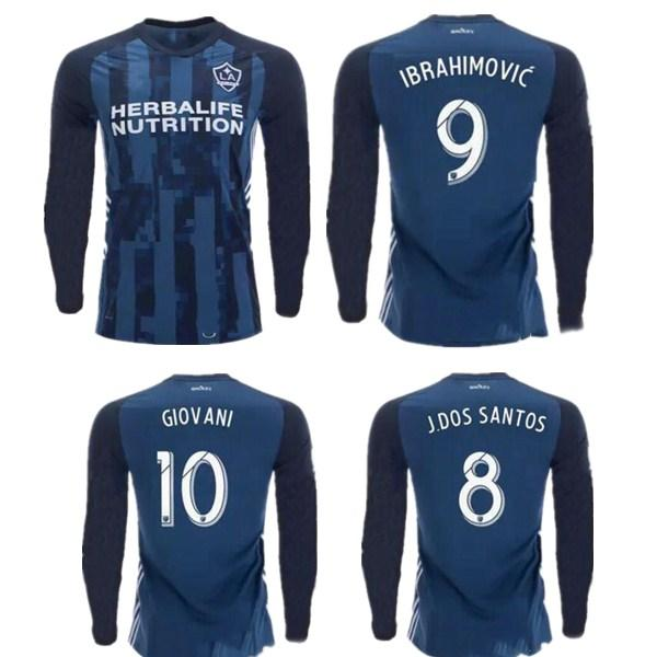 online store e898f a1bb9 2019 New 2019 2020 MLS LA Galaxy Long Sleeve Soccer Jersey 19 20 Los  Angeles Galaxy IBRAHIMOVIC GIOVANI DOS SANTOS Football Jerseys Shirt From  ...