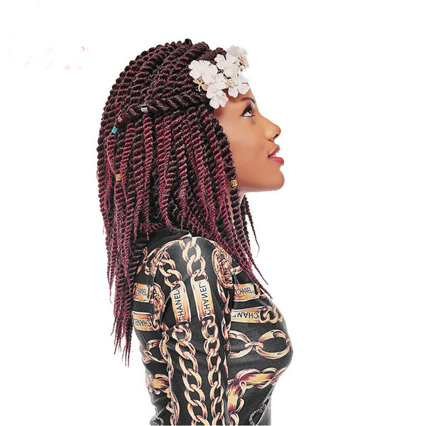 Hot Sale! 12 18Inch Havana Mambo Twist Crochet Braids 12Roots Ombre kanakalon Synthetic Bohemia Braid Braiding Hair Weave for Girls
