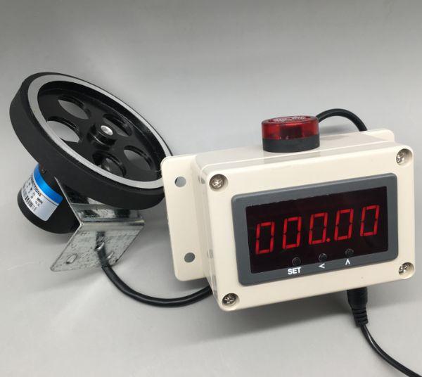 Visualizzatore digitale Codificatore elettronico, rullo, misuratore di allarmi, misuratore, attrezzatura industriale, strumento di misurazione della lunghezza.