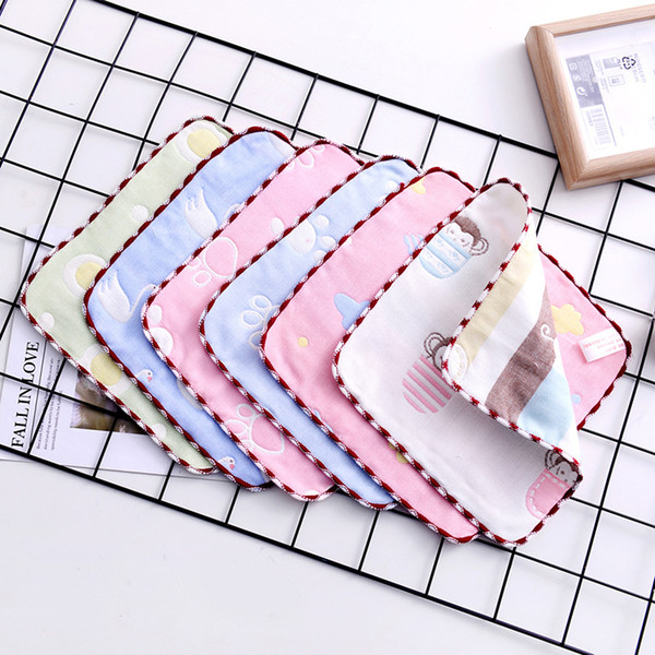 Muslin baby towel Newborns 6 Layers Gauze 25*25CM Cotton Bath towel Saliva Feeding Slobber Towels Kids Handkerchiefs Good quality F10 30pcs
