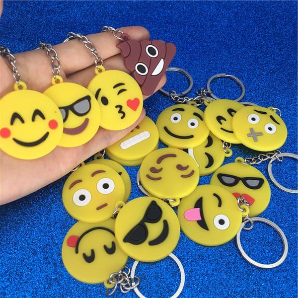 Karikatür Emoji Anahtarlık PVC Emoji Yüz Anahtarlık Gülümseme Cry bok Anahtarlık Anahtarlık Çanta Moda Takı Asmak Olacak ve Sandy Bırak gemi 340109
