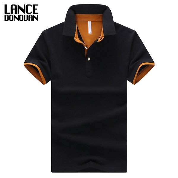 2019 Summer Short Sleeve Polo Shirt Men M-4XL ASIAN SIZE 11 Solid color