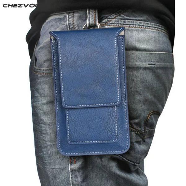 CHEZVOUS Universal Belt Clipe Bag para iphone 7 6 s PU Couro Caso Da Cintura Saco para 4.7 Polegada Telefones Móveis Ao Ar Livre Saco de Escalada