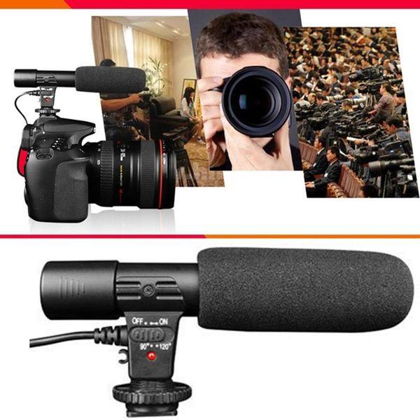 MIC-01 SLR Camera DV Stereo Camera universal hot shoe Professional 3.5mm Recording Microphone microphone jack
