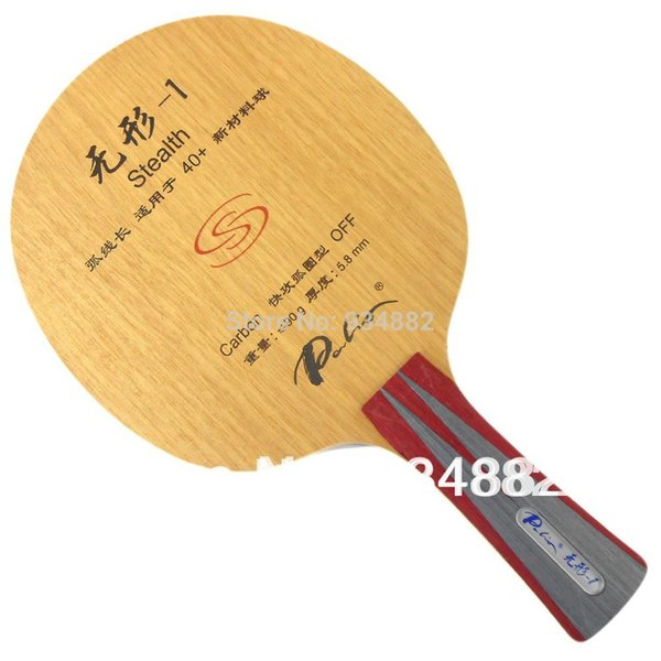 Palio official stealth-1 stealth 01 table tennis blade fast attack with loop good control racquet sports