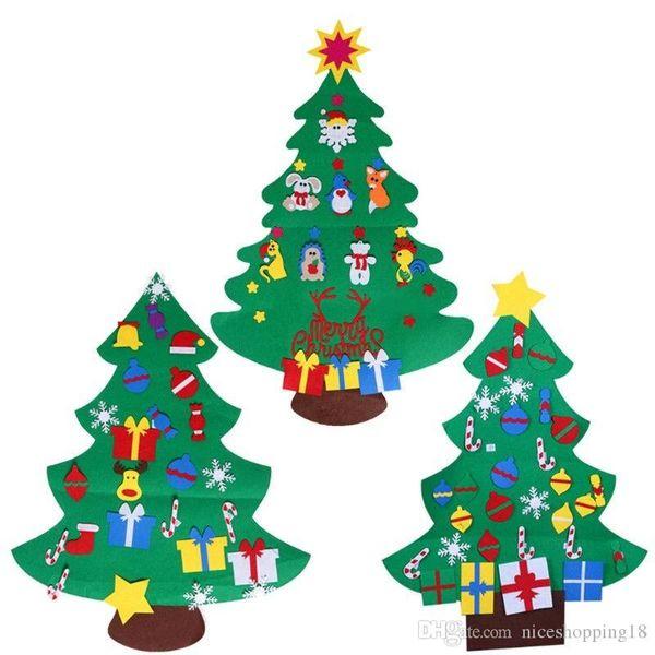 Enfants se sont sentis arbre de Noël avec des ornements cadeau de Noël porte bricolage décor suspendu