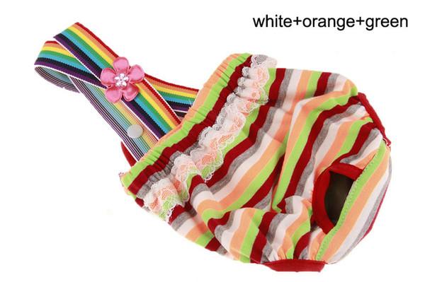white-orange-green