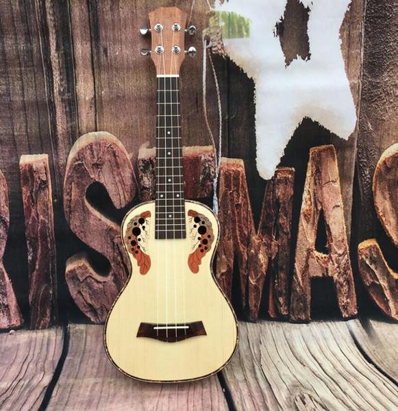 Envío gratis hawaiano ukulele principiante 26 pulgadas abeto Sapele Ukulele principiantes masculinos y femeninos pequeña guitarra