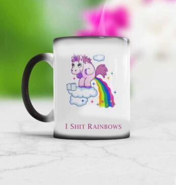 Tazze di unicorno all'ingrosso Novità Tazza di caffè sensibile al calore Tazza per il tè che cambia colore Tazza in ceramica magica