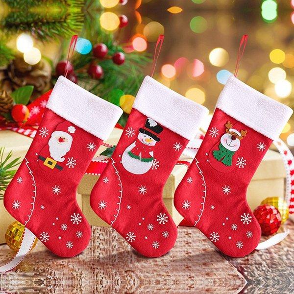 Geschenk-Beutel-Weihnachtsstrumpf-hängende Verzierung Seil Beweglicher netter Süßigkeit-Beutel Festliche Party Supplies Weihnachtsgeschenk Holders
