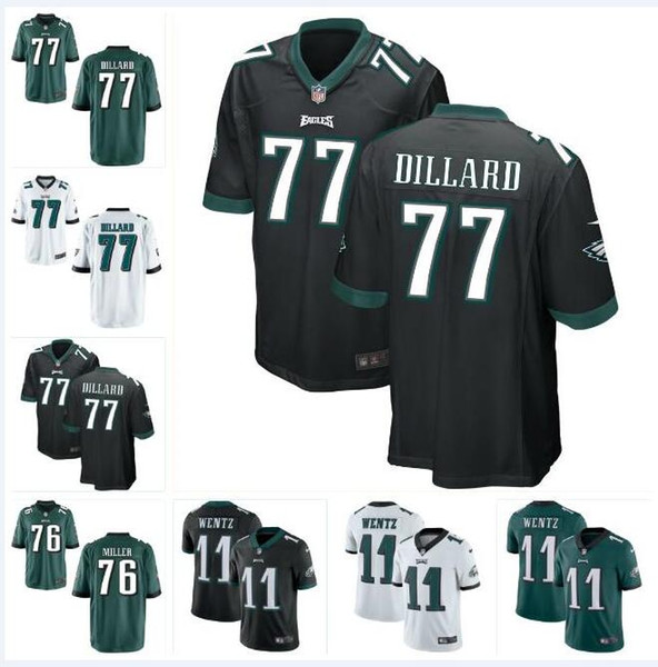 half off 66a0f 90c08 2019 #77 Andre Dillard Carson Wentz Eagles Jersey Philadelphia Zach Ertz  Miles Sanders Brian Dawkins Custom American Football Jerseys Black 4xl From  ...