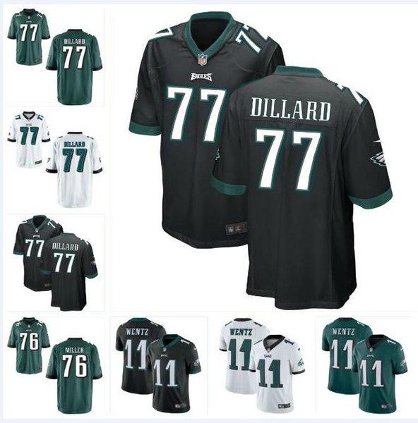 half off a35ed 2416e 2019 #77 Andre Dillard Carson Wentz Eagles Jersey Philadelphia Zach Ertz  Miles Sanders Brian Dawkins Custom American Football Jerseys Black 4xl From  ...