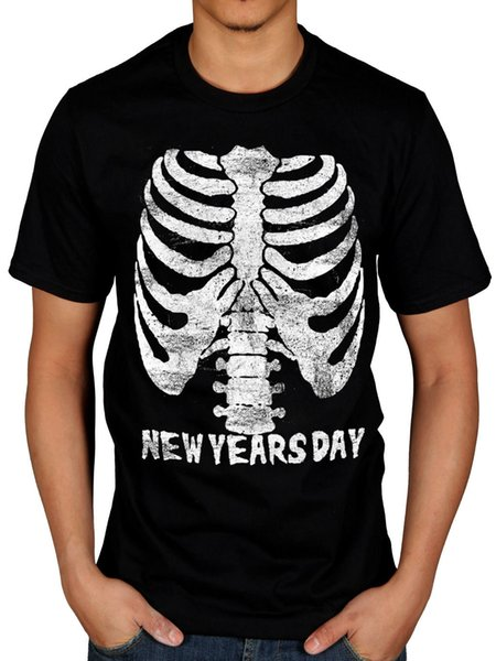 T-shirt Ribcage officiel du Nouvel An Le Coeur Mécanique Rock Ashley Costello Drôle livraison gratuite Unisexe Casual Tshirt top