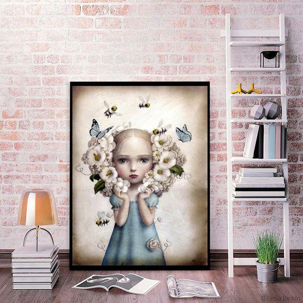 Compre Nicoletta Ceccoli Hd Wall Art Canvas Poster And Print Canvas Canvas Imagen Decorativa Para Oficina Salón Decoración Para El Hogar A 662 Del