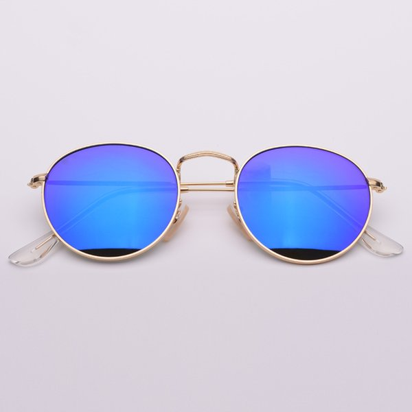 golden frame blue lens