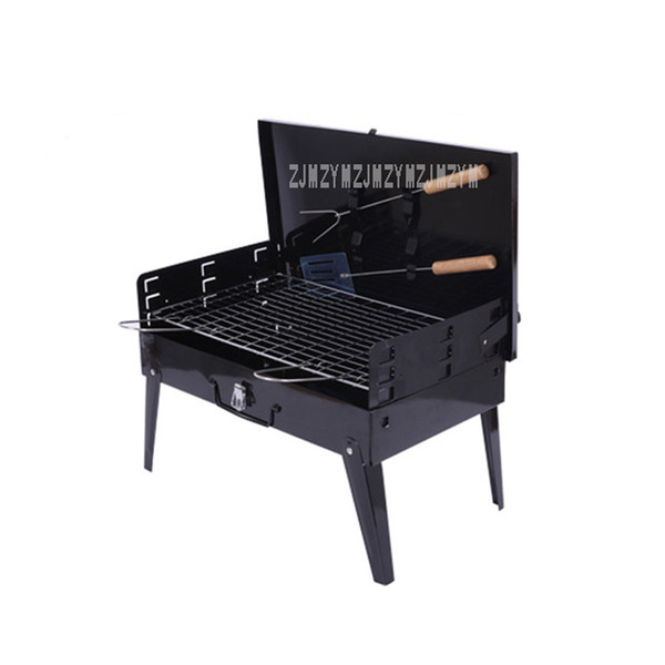 Portable Foldable Charcoal BBQ Grill for 3-5 Person Outdoor Camping Barbecue Roasting Picnic Family Party Grill Home Garden BBQ