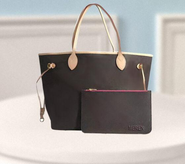 preço de atacado vender na alta qualidade do couro oxidate Neverfull MM GM tahitienne mulheres totes com bolsa de ombro saco de compras