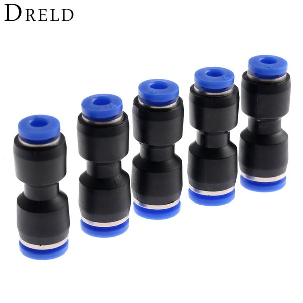 push fitting 5Pcs Fittings Push In Straight Reducer Connectors For Air Water Hose Plastic Pneumatic Parts PG6-4 6mm Hole to 4mm