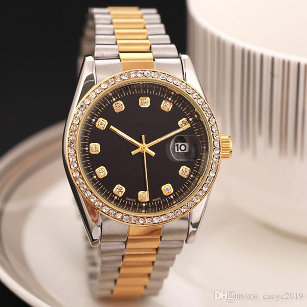 2017 new man military watch tainle teel luxury ca ual wri twatch teel quartz watche clock male brand watch hipping