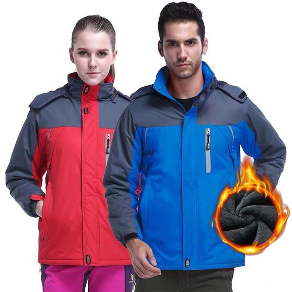 Горные мужские женские походные куртки Спорт на открытом воздухе ветровка альпинизм кемпинг треккинг катание на лыжах 9XL мужской тепловой пальто
