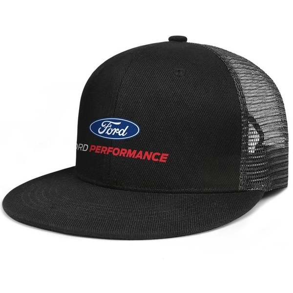 Womens Mens Washed Cap Hat Plain Adjustable Ford Performance logo Hip-Hop Cotton Ball Cap Golf Cadet Army Caps Bucket Hat Airy Mesh Hats For