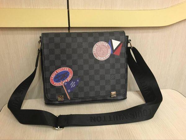 30 centimetri uomini caldi vera pelle hobo crossbody borsa nera valigetta borsa a tracolla portatile Messenger Business Bag Satchel Bags