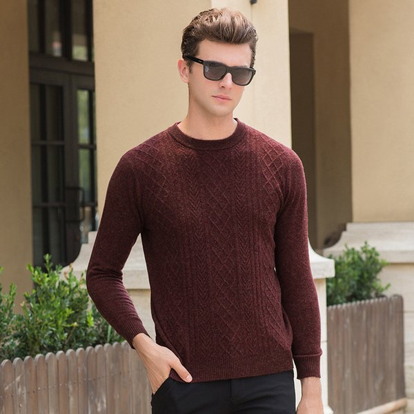 Pop2019 Pattern Korean Young And Middle-aged Knitting Men's Wear Rendering Unlined Upper Garment Jacket