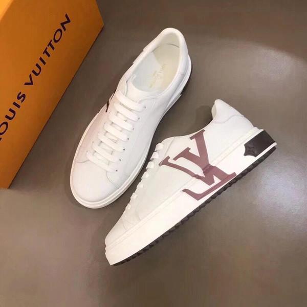 2019C nouveau luxe hommes casual chaussures en cuir chaussures de sport confortables mode sauvage chaussures original boîte emballage livraison rapide