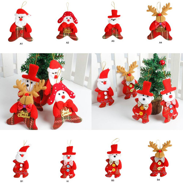 2019 Christmas Tree Pendant Non-woven Christmas Decoration Pendants Hanger Xmas Ornament For Home Festival Party Children Gifts