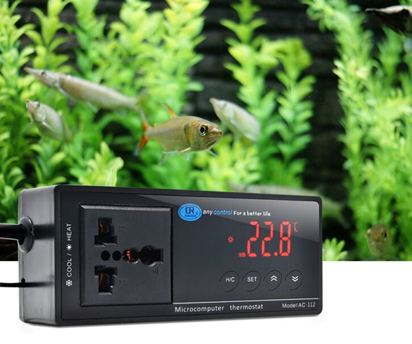 best selling 2019 NEW -40~212 F   -40~100 C Switchable Electronic Thermostat Digital Temperature Controller w  Socket for Reptile, Aquarium, Regulator
