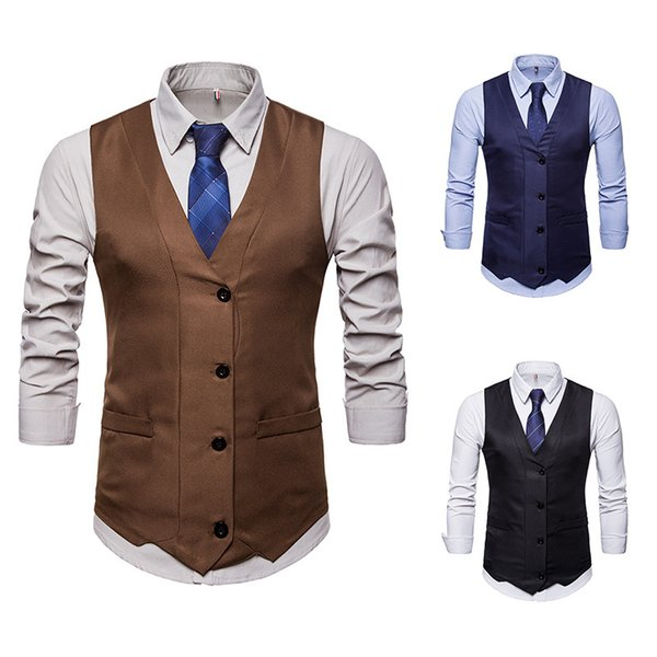Cross-border Foreign Trade Men's V-collar Single-breasted Design Marquee Male Suit Horse Clip M46