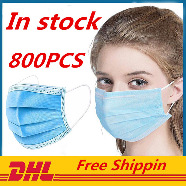 top popular In stock Disposable Face Masks Thick 3-Layer Masks with Earloops for Salon, Home Use Comfortable in stock Mask 2020