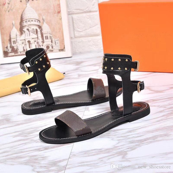 best selling 2020 Striking Gladiator Style Plain Calf Print Leather Flat Canvas Norma Sandal Leather Outsole Perfect Urban Ladies Sandal