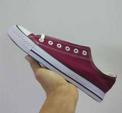 HOT New Star tamanho grande 35-46 Casual Shoes Low Top Style estrelas do esporte Chuck Sapata de lona do clássico das sapatilhas dos homens / mulheres das sapatas de lona