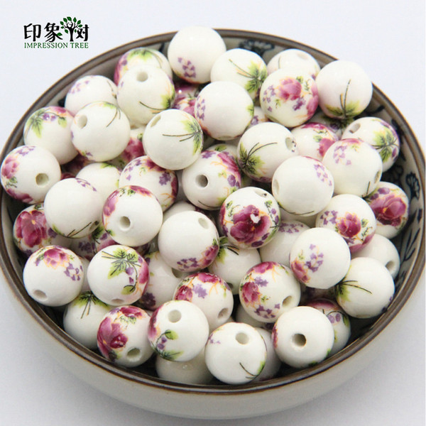 8 10 12 14 Glaze Applique Exquisite Purple Ceramic Beads For Handmade Diy Jewelry Making Supplies Wholsale 26